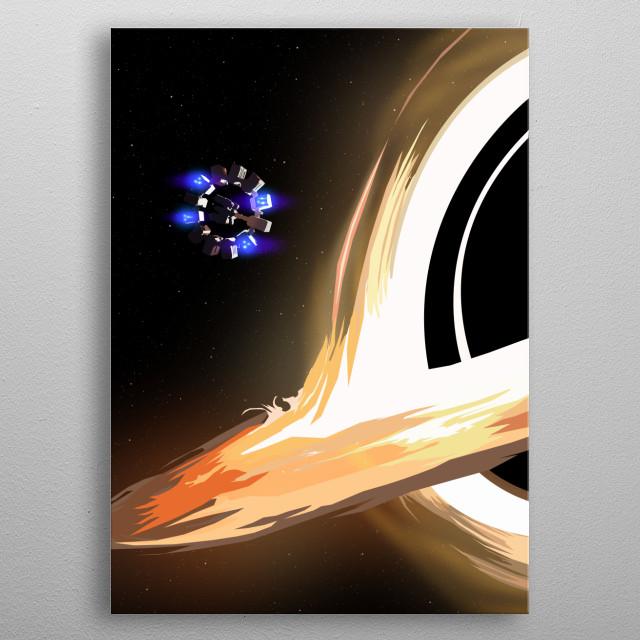 The second version of my Interstellar poster design. metal poster