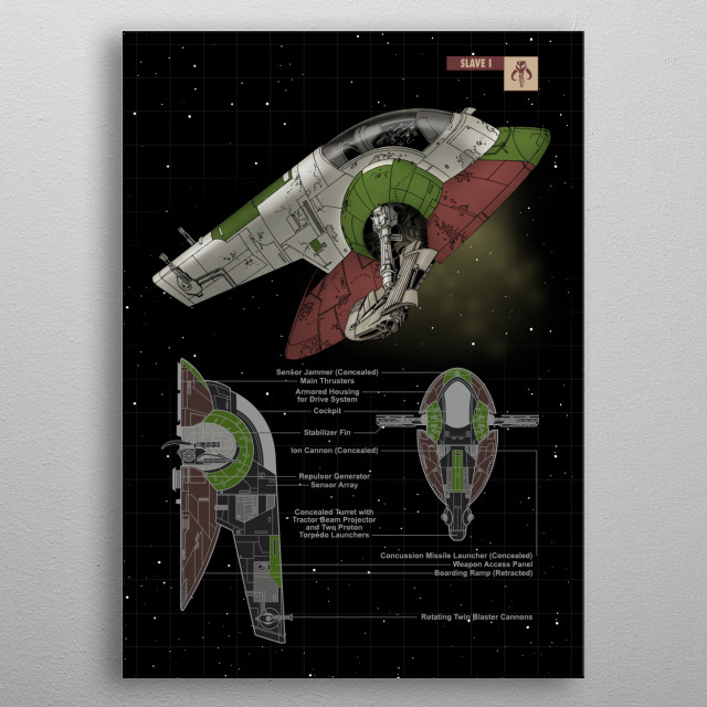 Slave One metal poster