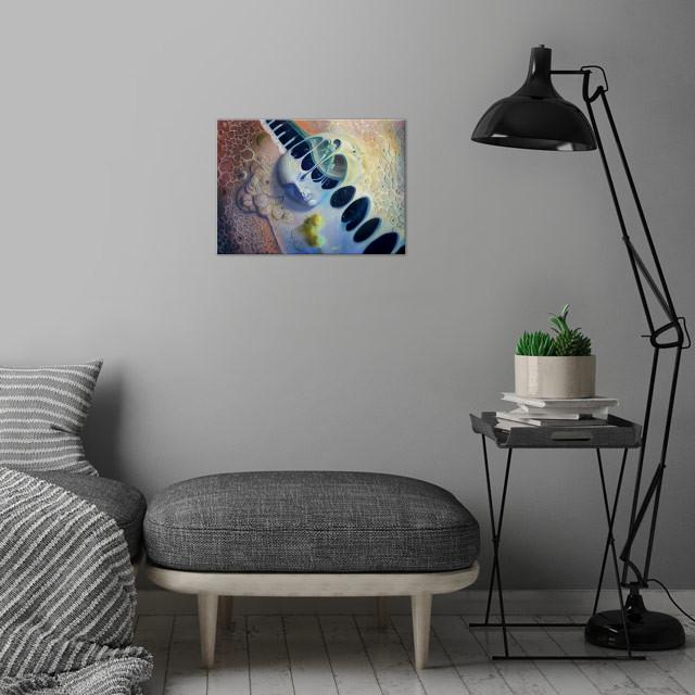 Alessandro Fantini - Adamanduga oil on canvas, 40x50  .... wall art is showcased in interior