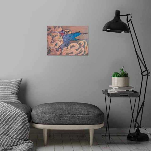 The Aerialist wall art is showcased in interior