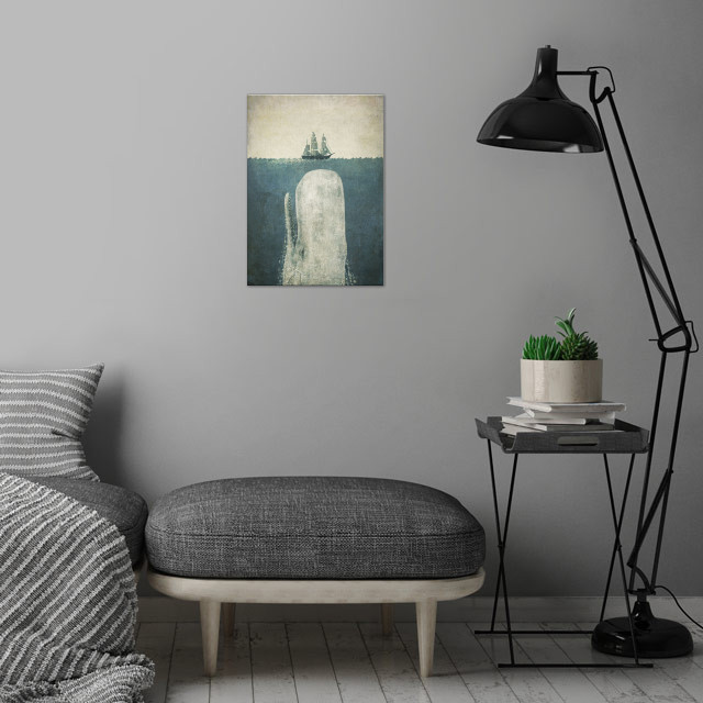 White Whale wall art is showcased in interior