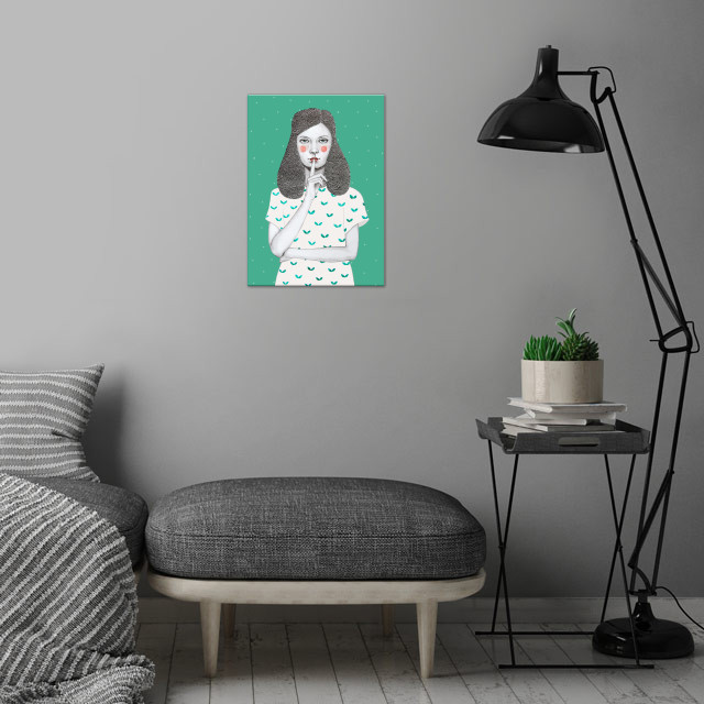 Lorena wall art is showcased in interior