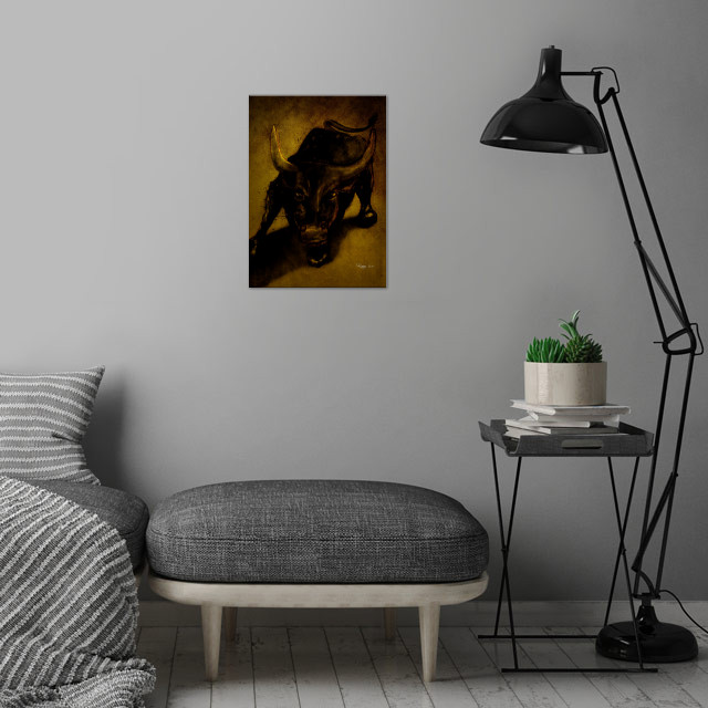 From sketches to digital painting. wall art is showcased in interior