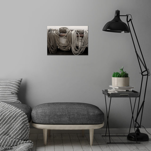 Ropes on a Sailing Vessel. wall art is showcased in interior
