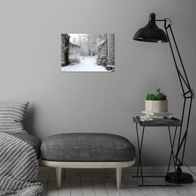 Dare You Follow Me? wall art is showcased in interior