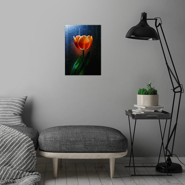 The Scarlet Flower / Share some delicate moment of in .... wall art is showcased in interior