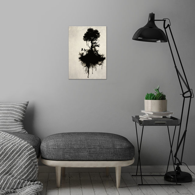Last Tree Standing wall art is showcased in interior