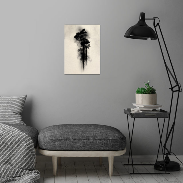 Enchanted Forest wall art is showcased in interior