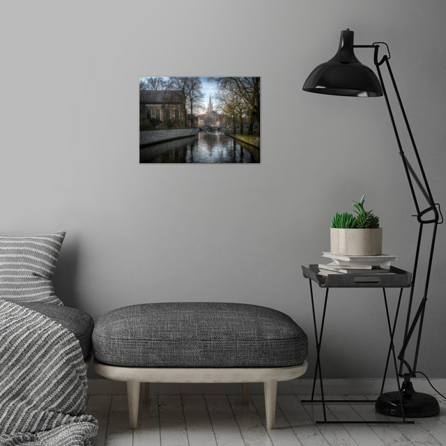 From near the Beguinage looking toward Church of Our La... wall art is showcased in interior