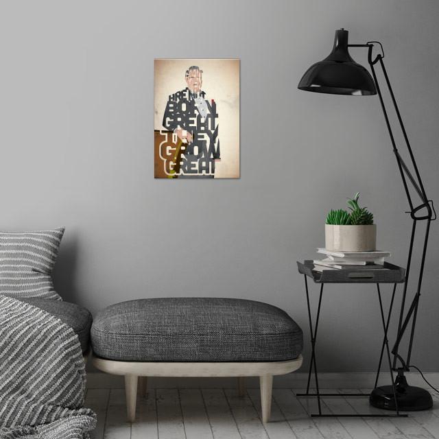Don Vito Corleone - The Godfather. wall art is showcased in interior