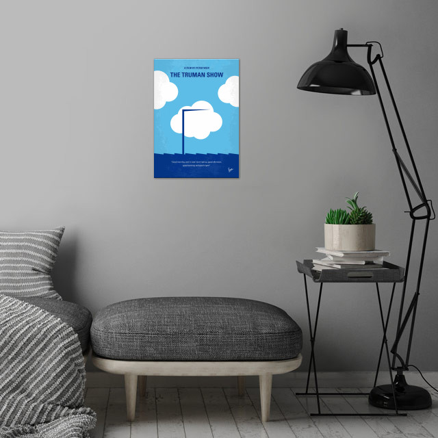 No234 My Truman show minimal movie poster  An insurance... wall art is showcased in interior