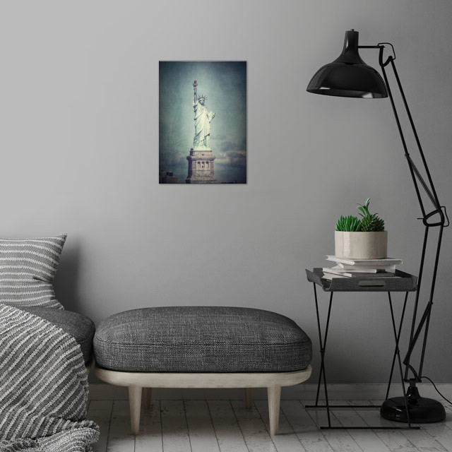 LADY LIBERTY wall art is showcased in interior