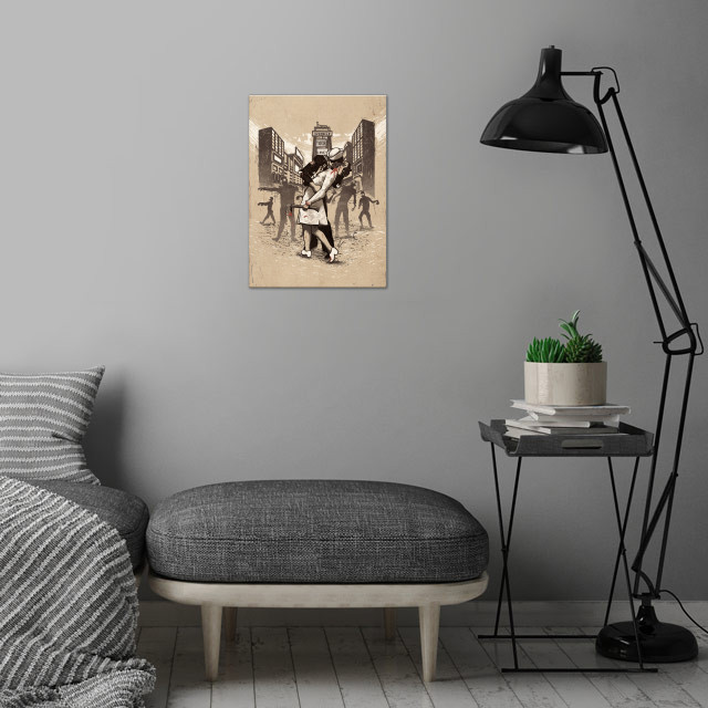 Z-Day - Vintage Style Alternate Colors wall art is showcased in interior