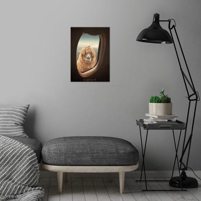 QUE PASA? FUNNY LAMA / LLAMA wall art is showcased in interior