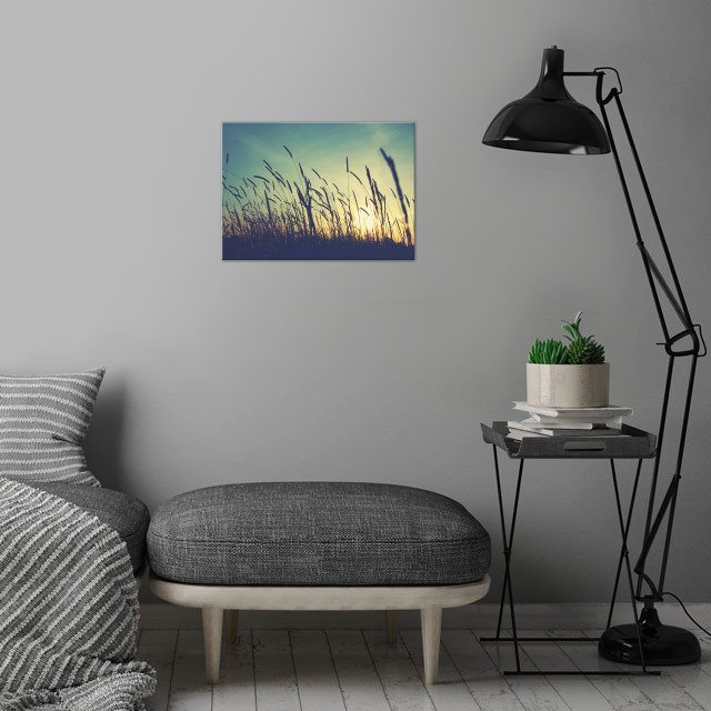 Those Warming Days.. wall art is showcased in interior