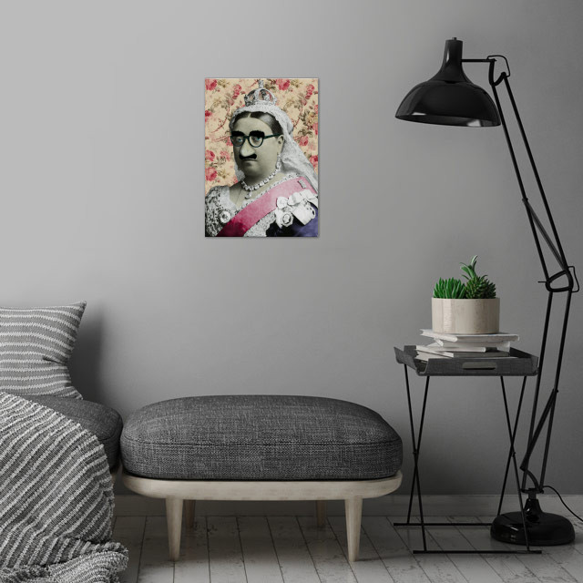 Comedy Vic wall art is showcased in interior