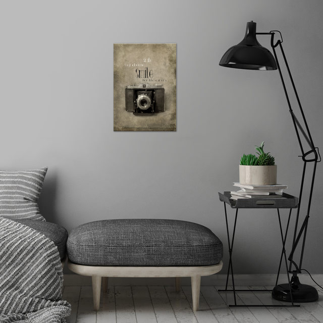 Smile wall art is showcased in interior