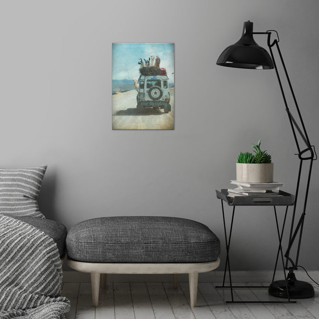 NEVER STOP EXPLORING - Summer Edition wall art is showcased in interior
