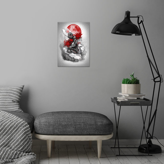 Dragon wall art is showcased in interior