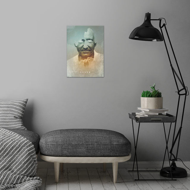 Seven - 1. poster - David Fincher movie collection wall art is showcased in interior