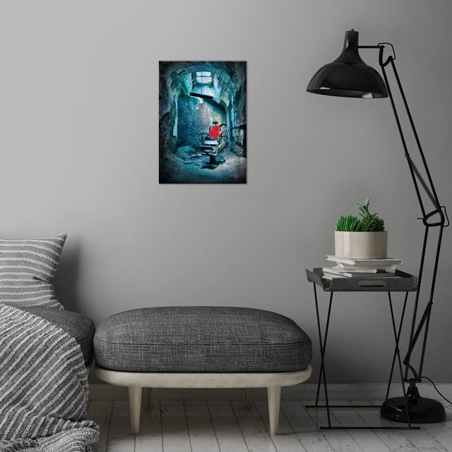The Barber Chair wall art is showcased in interior