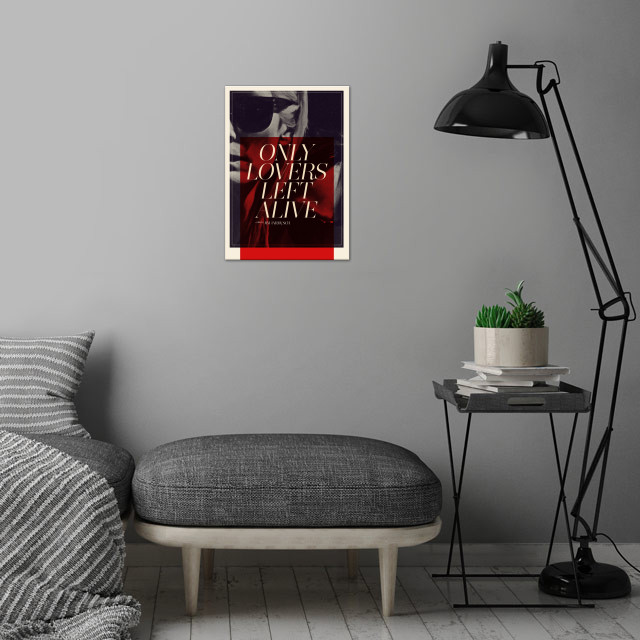 Only Lovers Left Alive wall art is showcased in interior