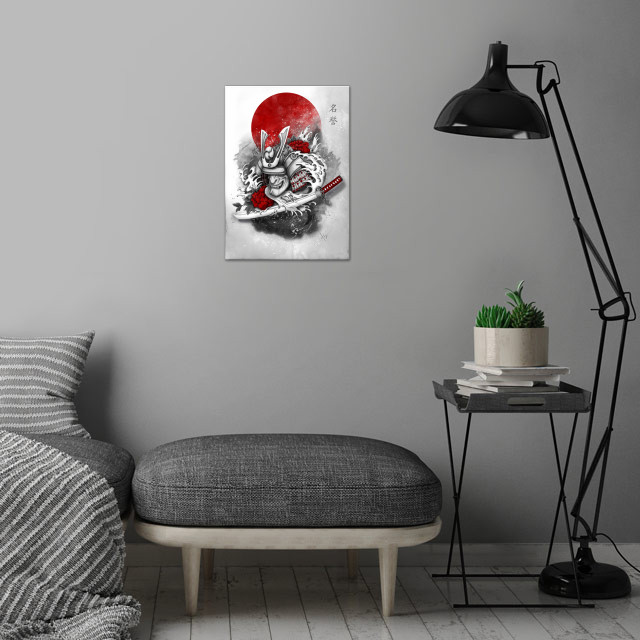 Honor wall art is showcased in interior
