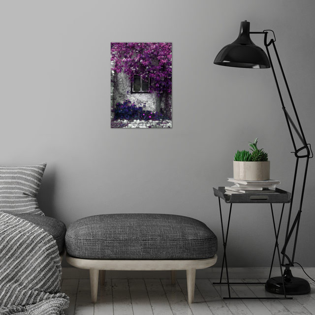 Orchid Vines wall art is showcased in interior