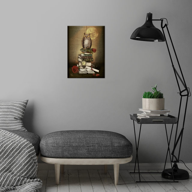 The Bibliophile - (the lover of books) wall art is showcased in interior