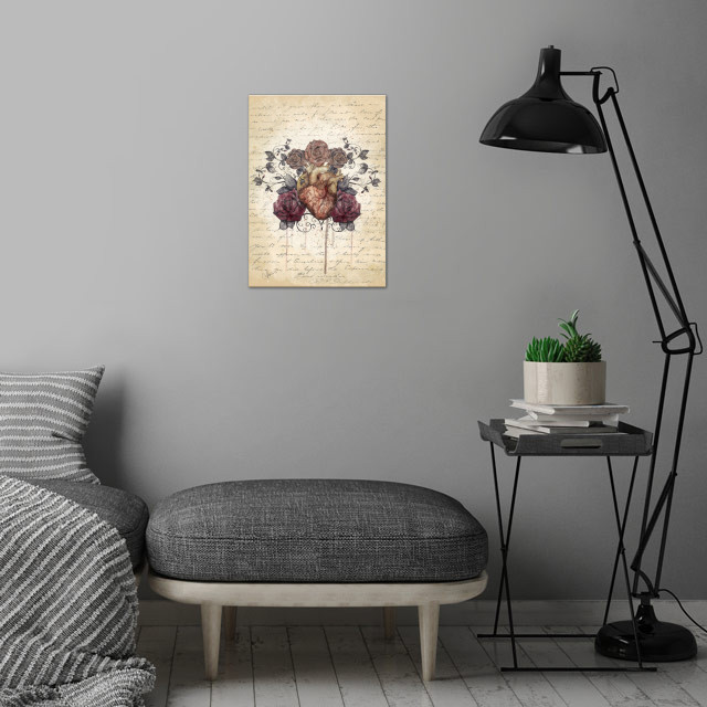 Flowers from my heart wall art is showcased in interior
