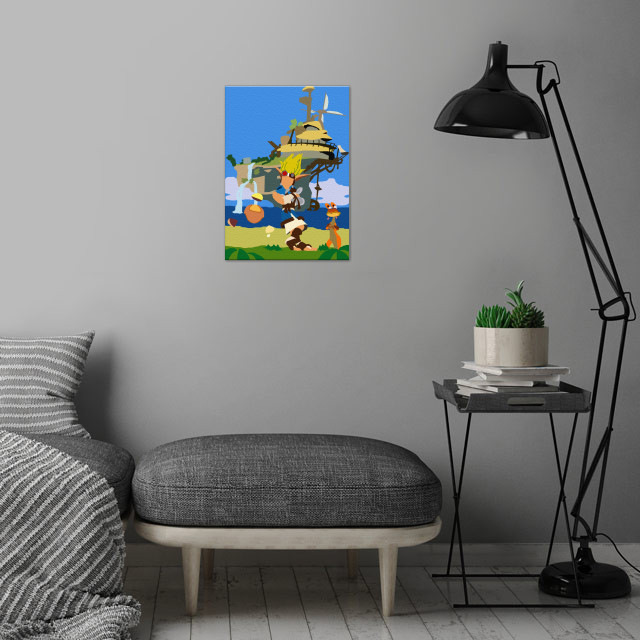 Jak and Daxter wall art is showcased in interior
