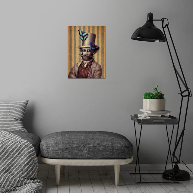 Dr. Popinjay wall art is showcased in interior