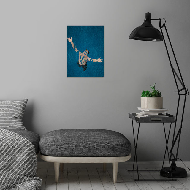 Andy Dufresne - The Shawshank Redemption. wall art is showcased in interior