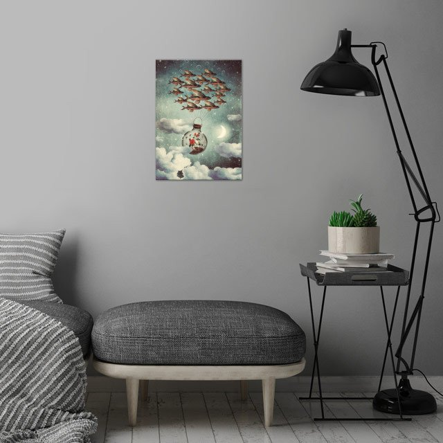 The Rose That Wanted to See the World wall art is showcased in interior