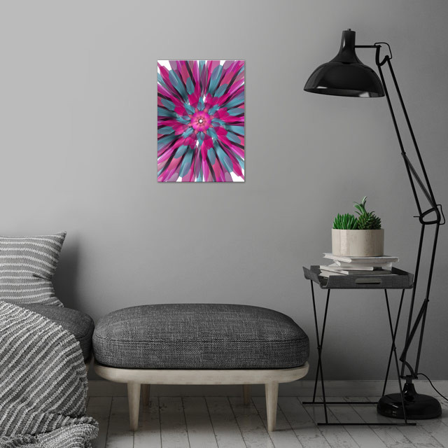 Bloom wall art is showcased in interior