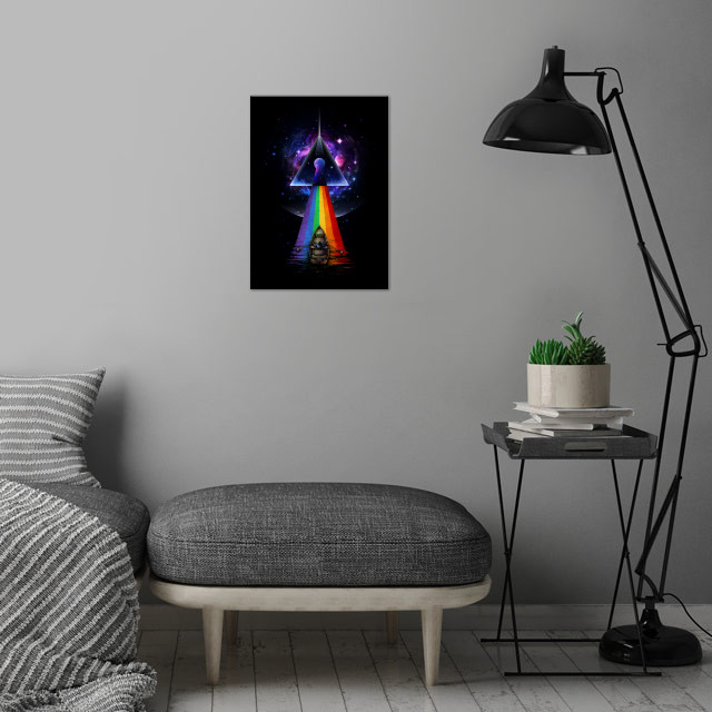 The Dark Side of The Mystery wall art is showcased in interior