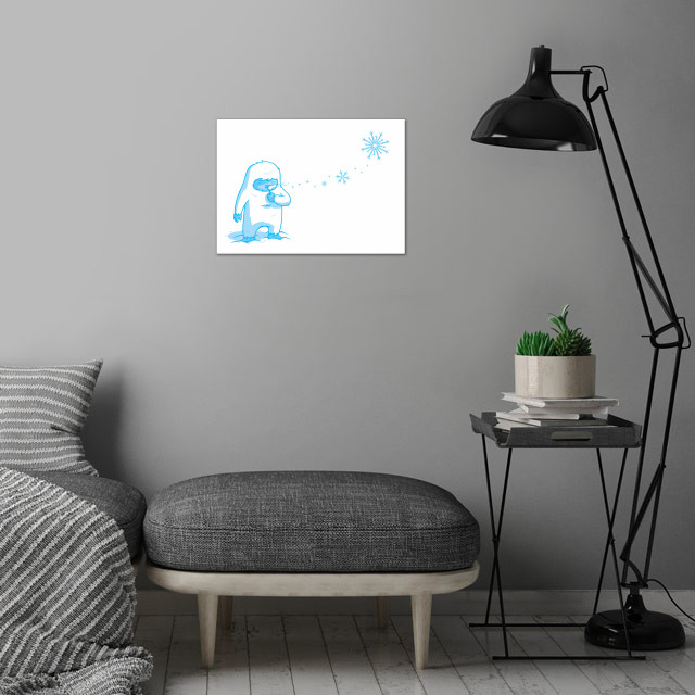 Crystal blower wall art is showcased in interior