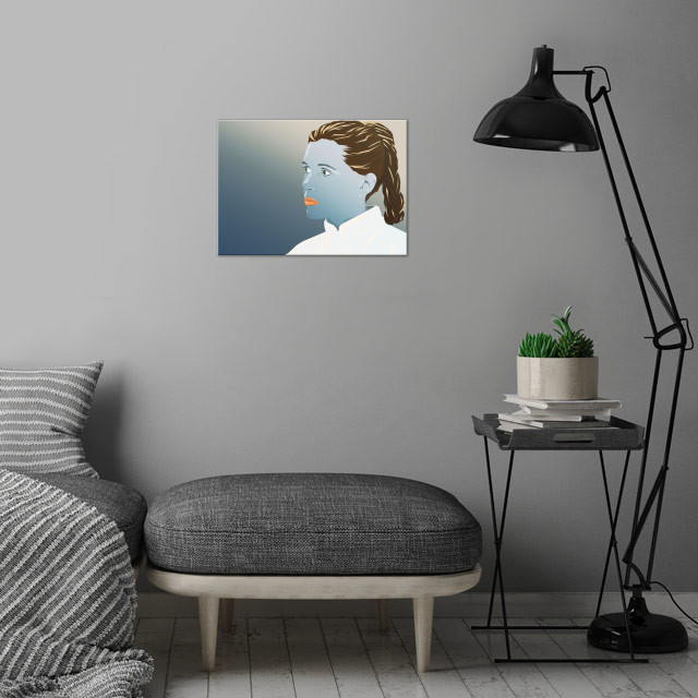 Cool Leia wall art is showcased in interior
