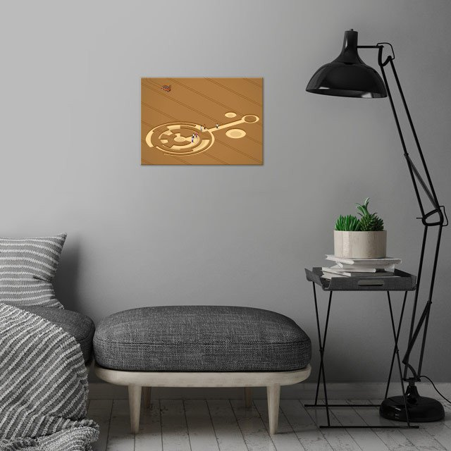 crop circles - isometric wall art is showcased in interior
