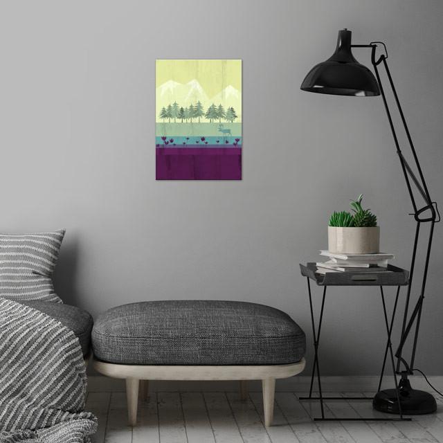 Wildlife wall art is showcased in interior