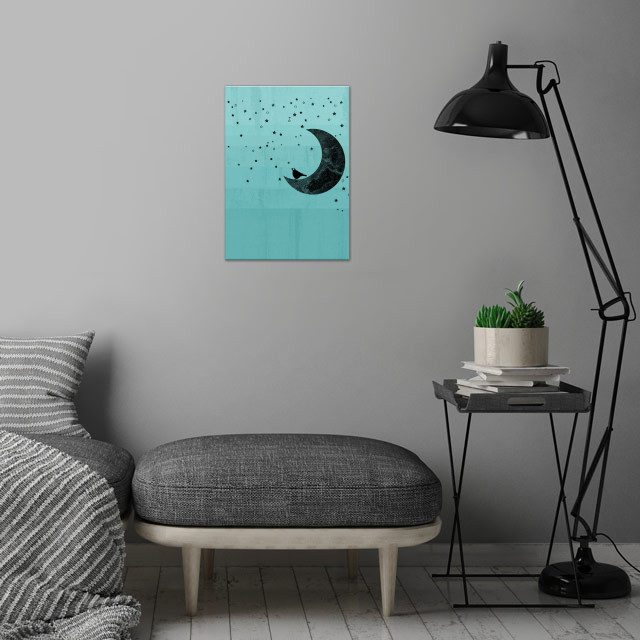 Moonlight wall art is showcased in interior