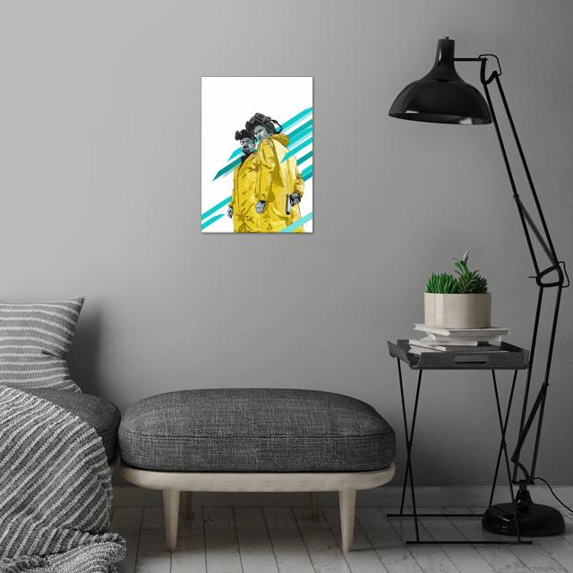 Breaking Bad wall art is showcased in interior