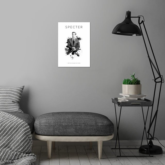 Harvey Specter wall art is showcased in interior