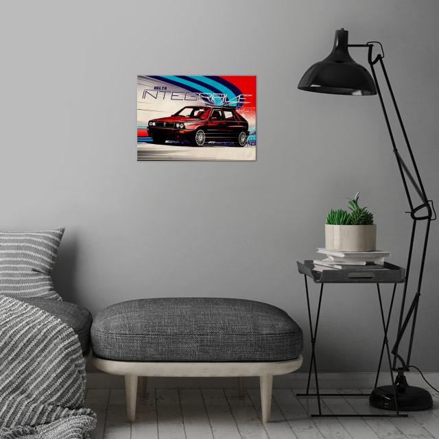 delta integrale wall art is showcased in interior
