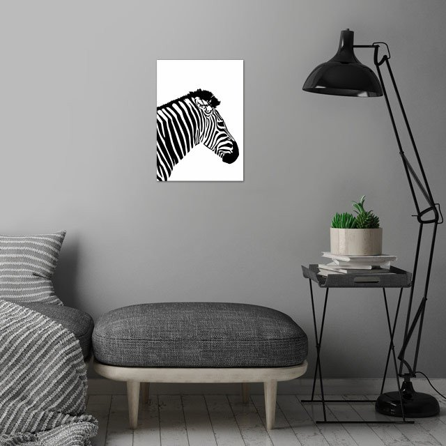 black and white wall art is showcased in interior