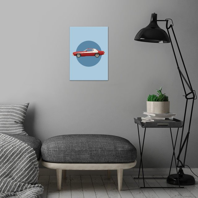 The Striped Tomato wall art is showcased in interior