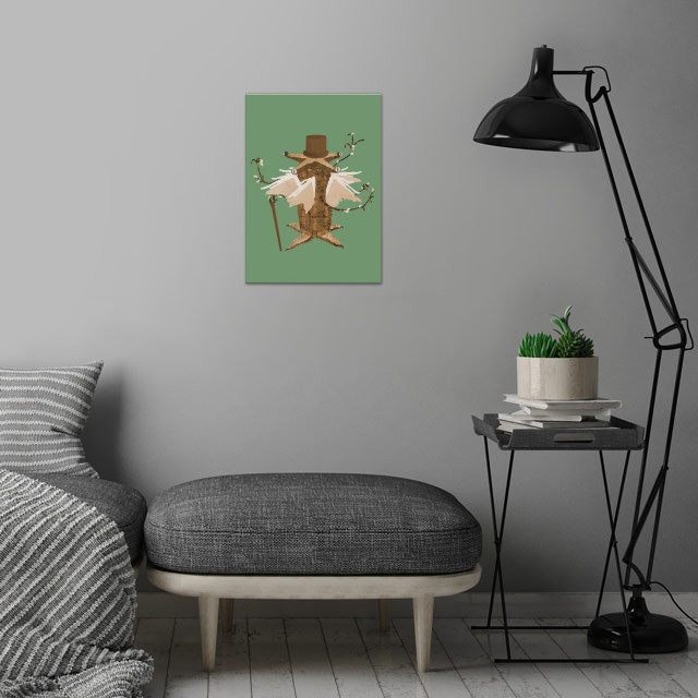 Sir Elder Thing. Inspired by H.P. Lovecraft. wall art is showcased in interior