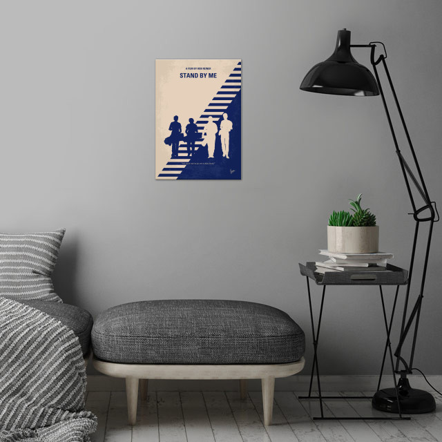 No429 My Stand by me minimal movie poster  After the de... wall art is showcased in interior