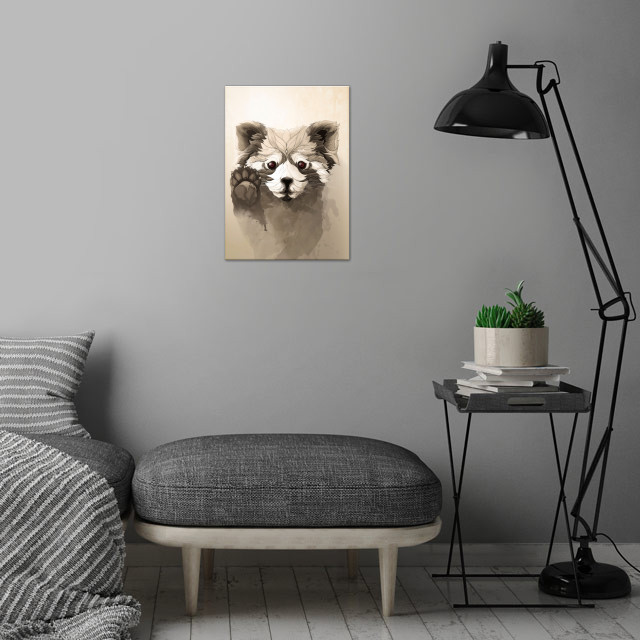 Red Panda wall art is showcased in interior