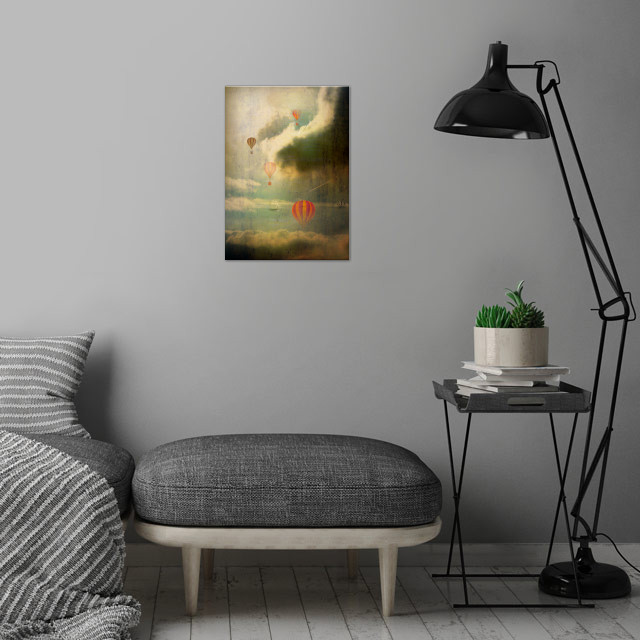 Hot Air Balloons Fantasy by aRT sKRATCHES   metal posters - Displate